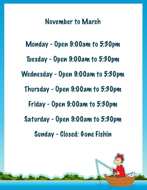 November to March Opening Times